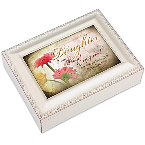 Cottage Garden Daughter Ivory Music Box/Jewelry Box Plays You Light Up My Life