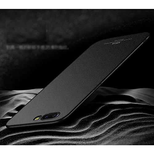 Coque OnePlus 5, MSVII® PC Plastique Coque Etui Housse Case et Protecteur écran Pour OnePlus 5 - Noir JY30094