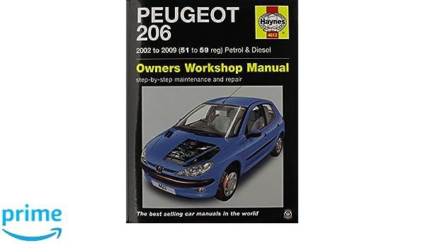 Peugeot 206 02 06 haynes publishing 9780857339089 amazon books fandeluxe Gallery