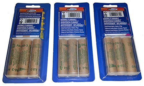 (Estes A8-3, B6-4, C6-5 Mini Bulk Pack - 9 Engines / Motors with Starters)