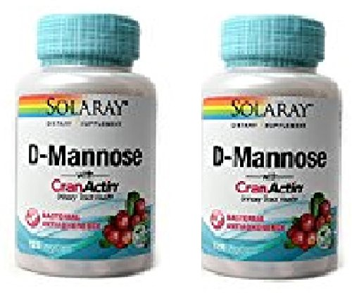 Solaray D-mannose with Cranactin -- 120 Vegetarian Capsules (120x2) by Solaray