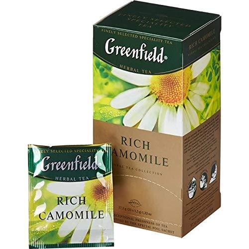 [2 PACK] Herbal tea Greenfield RICH CAMOMILE APPLE + CINNAMON Beverages Grocery Gourmet Food [25 of tea bags in 1 PACK]