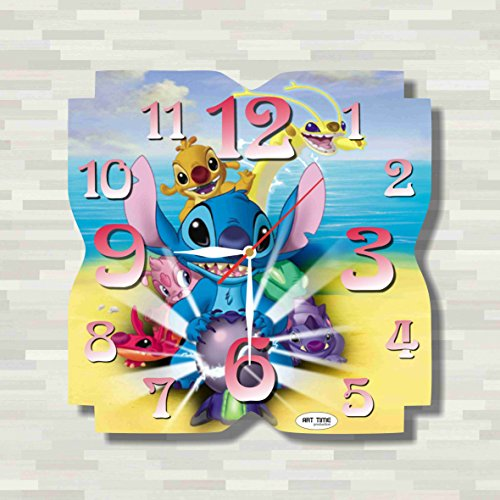 Lilo & Stitch 11.8'' Handmade unique Wall Clock - Get unique décor for home or office – Best gift ideas for kids, friends, parents