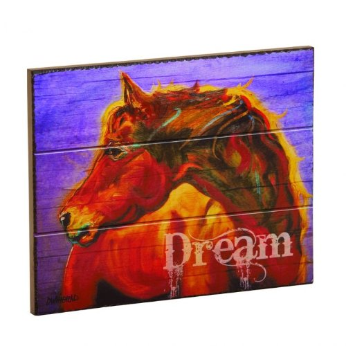 Dream Horse Wall Plaque, 10x8 inches