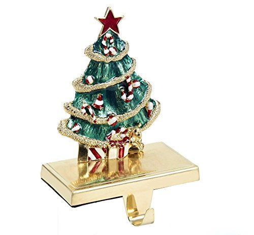 - Kurt Adler Zinc Christmas Tree Stocking Holder Decor