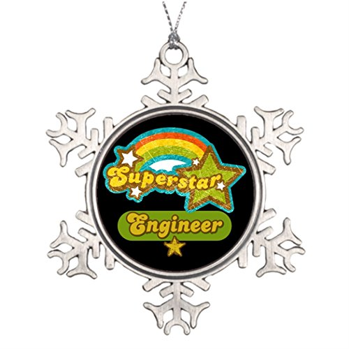 Marty Q Superstar Engineer Best Friend Snowflake Ornaments Engineer Profession Make Your Own Christmas Snowflake (Make Your Own Halloween Decorations Ideas)