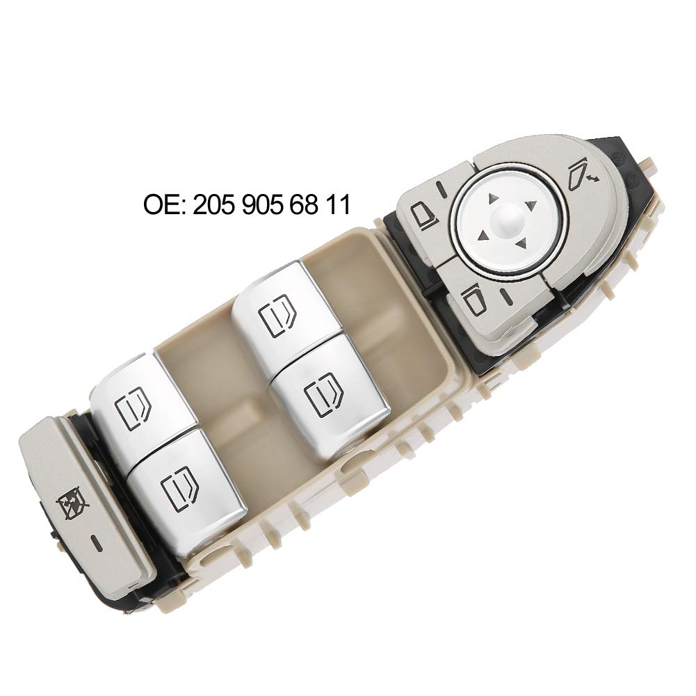 Hlyjoon 205 905 68 11 Car Auto Power Window Master Control Switch Front Driver Side Switch Button for Mercedes-Benz GLC300 GLC43 2016 2017
