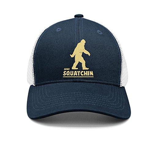 State Pittsburg Cap (Gone Squatchin Big Foot Hunter Snapbacks Truker Hats caps Unisex Adjustable Fashion)