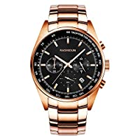 KASHIDUN Men's Watch Large Face Military Watch Case With Watch Batteries Strap Box Watches For Men.846