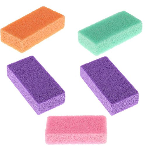 Foot Massage Scrub Exfoliate Pedicure Grinding Feet Care Remove Dead Dry Skin Callus Remover Natural Pumice Sponge Stone Pedicure Beauty(Random Color) (Scrub Massage)