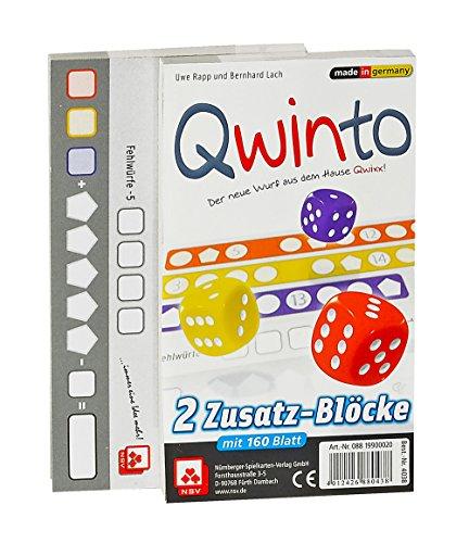 NSV - 4038 - QWINTO - Zusatzblöcke 2-er Set - Würfelspiel