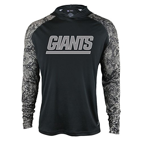 NFL New York Giants Men's Zubaz Light Weight Synthetic Hood with Digital print Sleeves, Large, (New York Giants Hoodie)