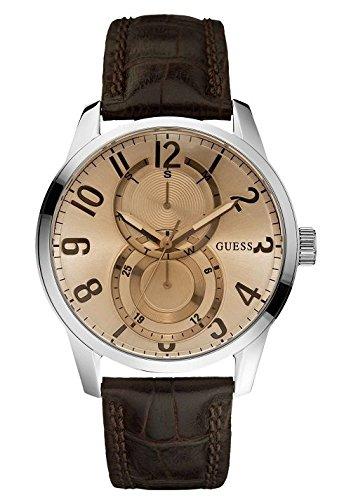 Guess Mens Fashion W95127G2 - Reloj analógico de cuarzo para hombre, correa de cuero color