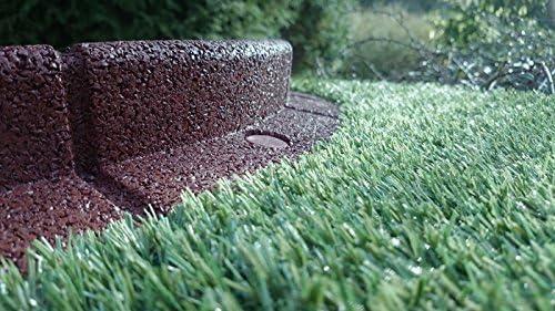 Bordillo Flexiborder flexible de jardín para césped, resistente a la intemperie, resistente a los cortacésped, de 1 metro de largo, marrón: Amazon.es: Jardín