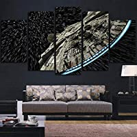 FDSKF.N Los Lienzos No Frame Arte Moderno Cuadros De La Pared Decoración Poster 5 Panel De Star Wars Destructor…