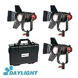 3 Pcs CAME-TV Boltzen 30w Fresnel Fanless Focusable LED Daylight Kit