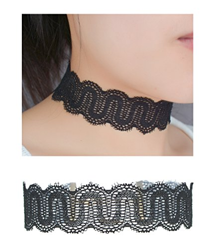 Classic Stretch Floral Choker Necklace