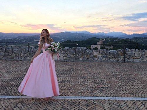 Abendkleider für Blau A Hochzeit Elegantes Satin 36 Kapelle V Ausschnitt Zug Rueckenfrei Burgund Kleid Dabei Langes Linie Ab Schulter Ballkleier wqqH8Tx