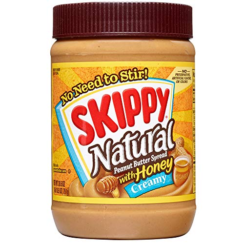 SKIPPY Natural Creamy Peanut Butter Spread with Honey, 26.5 oz | Gluten-Free and Kosher ()