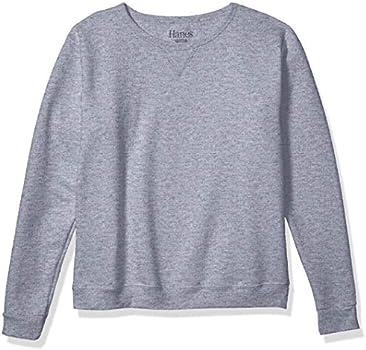 Hanes Womens V-Notch Pullover Fleece Sweatshirt