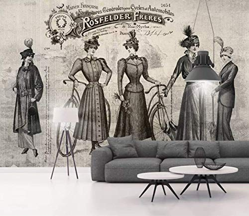 Murwall Art Wallpaper French Retro Clothing Wall Mural Vintage Cafe Wall Decor Living Room Entryway Designer Office Decor