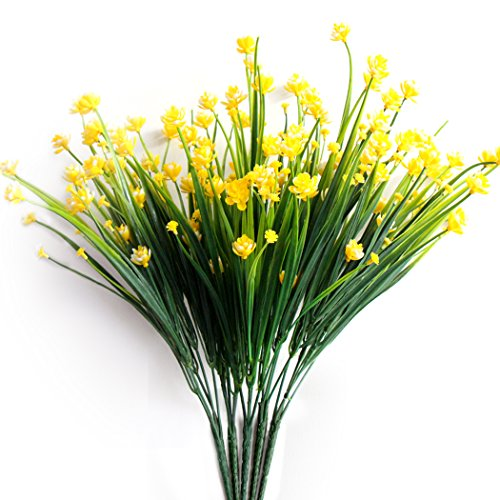 Yellow Daffodils - ICEYUN 5pcs Plastic Artificial Flowers, Yellow Daffodils