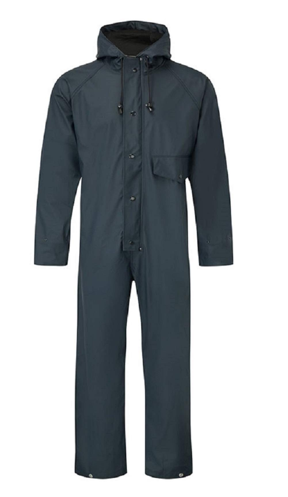 Blue Castle Flex PU Tricot Fabric Stretchable Coveralls Waterproof Overalls Work Fish Boat Sail Yellow, XXL Chest To Fit 52-54