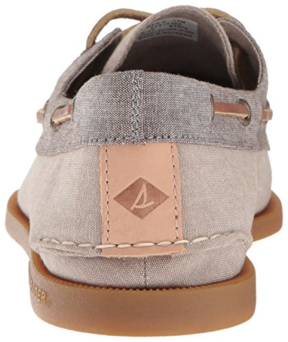 Sperry Top-sider Hombres A / O 2-eye Chambray Boat Shoe Tan / Chocolate