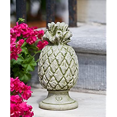 Campania International S-314-TR Williamsburg Pineapple Finial Statue, Travertine Finish : Garden & Outdoor