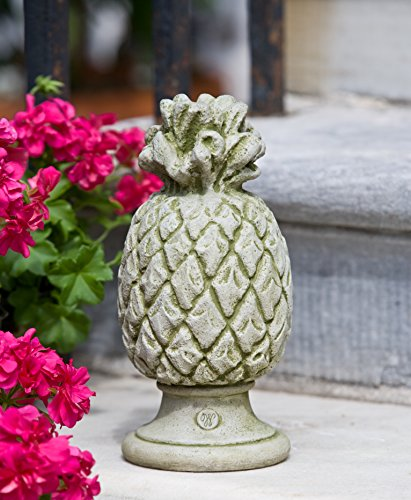 Campania International S-314-NA Williamsburg Pineapple Finial Statue, Natural Finish