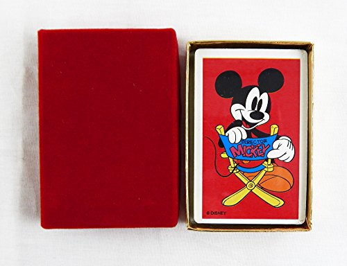 Playing Mouse Cards Mickey (Vintage 1980's Disney Mickey Mouse Director Mickey Playing Cards)