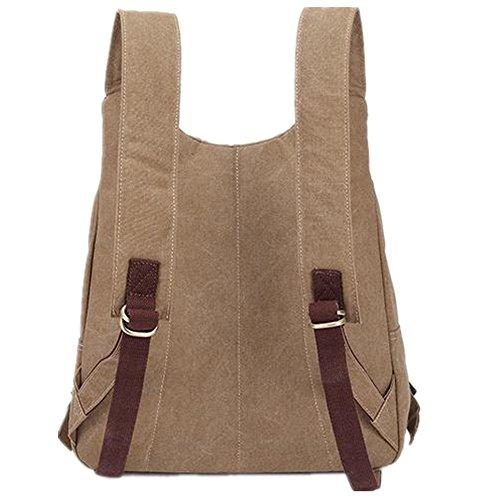 5 All Damen Herren Tasche Canvas Messenger Tasche Handtasche Schultertasche Rucksack zusammen Multifunktions viele Farben (khaki) khaki