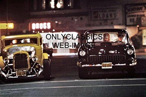 OnlyClassics American Graffiti 8X12 Photo Harrison Ford 1955 Chevy & 1932 Duece Coupe HOT - Harrison Ford American Graffiti