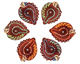 Set of 6 Diyas Handmade Decorative Diwali Clay Diyas For Diwali Earthen Terracotta Clay Oil Lamps Diwali Gifts