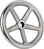 Rocker Hand Cast Iron Wheel with Nut, No Handle, Mini, D2 = 26 Steel D1 = 250 – Retail Packaging – k0671.1250x26
