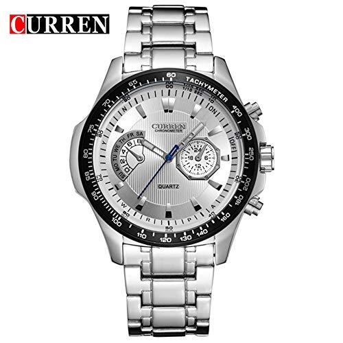 Reloj de Pulsera Hombres, Pulsera de Reloj analógico, Elegante y Resistente al Agua,