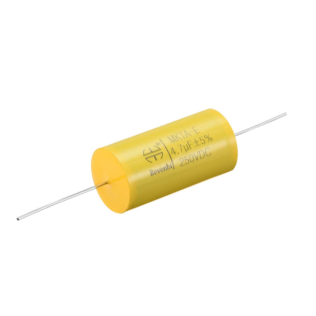 uxcell Film Capacitor 250V DC 15uF Round Axial Polyester Film Capacitor for Audio Divider Yellow
