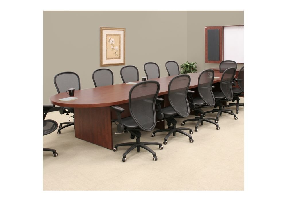 """Legacy Oval-Shaped Conference Table - 16""""W Cherry Finish Dimensions: 192""""W x 52""""D x 29""""H Weight: 540 lbs."""