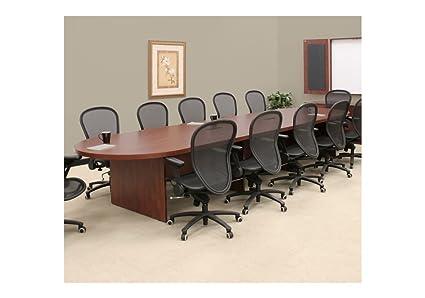 Amazoncom Legacy OvalShaped Conference Table W Cherry - Oval shaped conference table