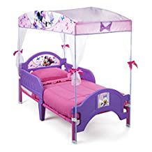 Delta Children Toddler Canopy Bed, Disney Minnie Mouse