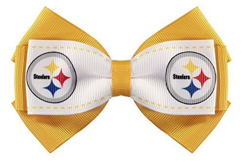 - NFL Pittsburgh Steelers 2-Tone Bow Hair Clip