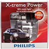 philips xtreme vision car lamp - Philips H13 9008 X-treme Power Replacement Bulb, (Pack of 2)