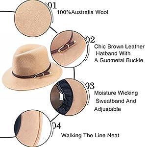 ... Felt Panama Hat-Adjustable 100% Wool Fedora Brim. upc 716294708019  product image1. upc 716294708019 product image2. upc 716294708019 product  image3. upc ... 30dfaa48d0d8