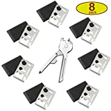Credit Card Survival Wallet Pocket Tools+ Utility Key Multitool (8 pack) Thick Steel/Inch Scale Gifts for mens
