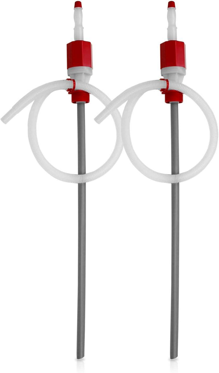 2 PK TERAPUMP TRTI901 BPA-Free Extra Heavy Duty Siphon Drum Pump for 15 30 55 Gallon Drum Pump