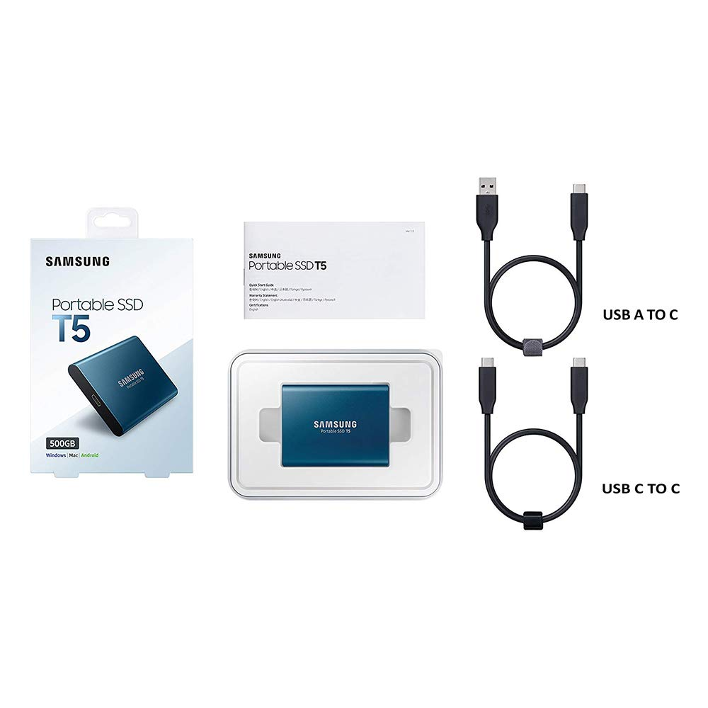 Samsung T5 500 GB Azul - Unidades externas de Estado sólido (500 ...