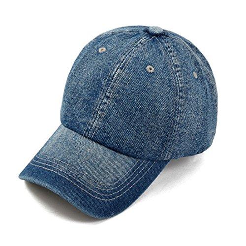 Azul visera Gorras hueso Plain Casquette de Gorras béisbol Denim Gorra KeepSa Hombres 2017 Mujeres Snapback Cap sombreros Hat oscuro Blanco vaqueros pq7HnxAw