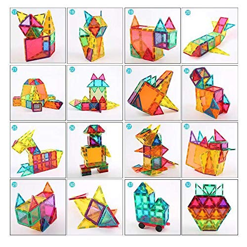 Magnetic Building Blocks 82 Pcs, Magnetic Tiles Educational Construction Toys for Boys and Girls with Giftbox (82 PCS) by Baobe (Image #7)