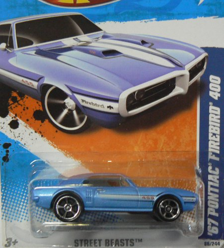 2011 HOT WHEELS STREET BEASTS 86/244 BLUE 67 PONTIAC FIREBIRD 400 06/10 67 Pontiac Firebird
