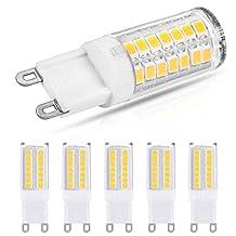 LOHAS G9 LED Bulb, Warm White 3000k, 5W LED Replacement for 40W Halogen G9 Bulb, 400LM Energy Efficiency LED Lights For Home Livingroom Bedroom Lighting (Pack of 5)
